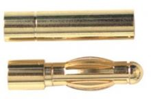 Gold Connector 4mm w/H.S (2pr)