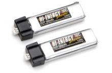 Hi-Energy 1S 160mAh 30C Li-Po (2pcs)