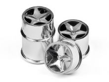 HPI Q32 Super Star Wheel Set (Chrome/4pcs)