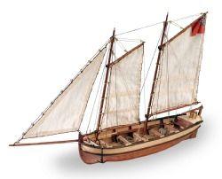 Artesania Latina Endeavor's longboat