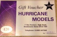 Hurricane Models Gift Voucher £20