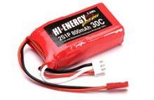 Hi-Energy Extreme 2S 7.4v 800mAh 30C Li-Po