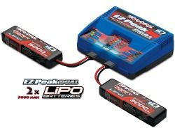 Traxxas EZ-Peak Plus Dual Charger with 2 x 3S 5000mAh Li-Po
