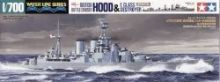 Tamiya British Battle Cruiser Hood and E Class Destroyer 1/700
