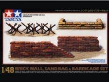 Tamiya brick, sandbag, barricade set 1/48th