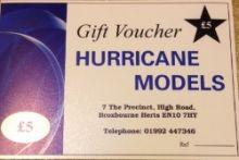 Hurricane Models Gift Voucher £5
