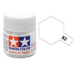 Tamiya mini acrylic paint 10ml X-2 gloss white