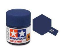 Tamiya mini acrylic paint 10ml X-3 gloss royal blue