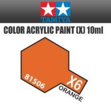 Tamiya mini acrylic paint 10ml X-6 gloss orange