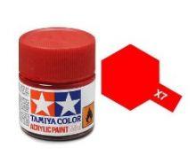 Tamiya mini acrylic paint 10ml X-7 gloss red