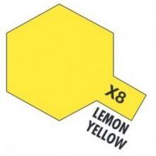 Tamiya mini acrylic paint 10ml X-8 gloss lemon yellow