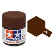 Tamiya mini acrylic paint 10ml X-9 gloss brown