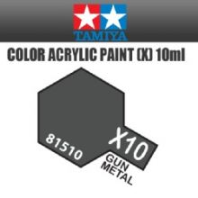 Tamiya mini acrylic paint 10ml X-10 gun metal