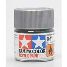 Tamiya mini acrylic paint 10ml X-11 chrome silver