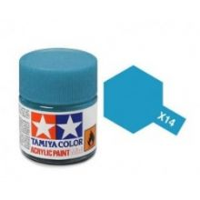 Tamiya mini acrylic paint 10ml X-14 gloss sky blue