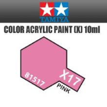 Tamiya mini acrylic paint 10ml X-17 gloss pink