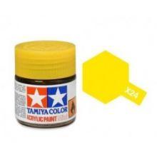 Tamiya mini acrylic paint 10ml X-24 clear yellow
