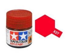 Tamiya mini acrylic paint 10ml X-27 clear red