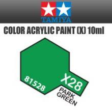 Tamiya mini acrylic paint 10ml X-28 gloss park green