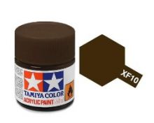 Tamiya mini acrylic paint 10ml XF-10 flat brown