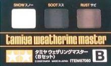 Tamiya weathering master set B snow, soot, rust