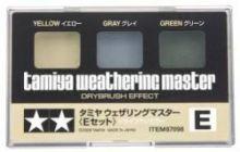Tamiya weathering master set E yellow, grey and green