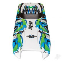 DCB M41 Widebody Brushless 40in RTR Race Boat, Orange (+ TQi, CC 540XL, Marine VXL-6s, TSM, factory-applied graphics)