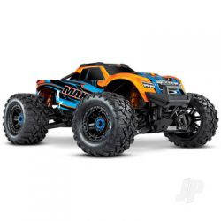 Traxxas Orange Maxx 1:10 4WD Brushless Electric Monster Truck. Fully assembled, RTR, (+ TQi, TSM, VXL-4s, ProGraphix)