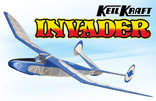 "Keil Kraft Invader Kit - 40"" Free-Flight Towline Glider"