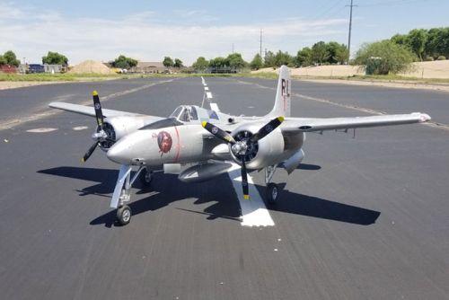 FMS 1700MM F7F Tigercat Silver artf Warbird